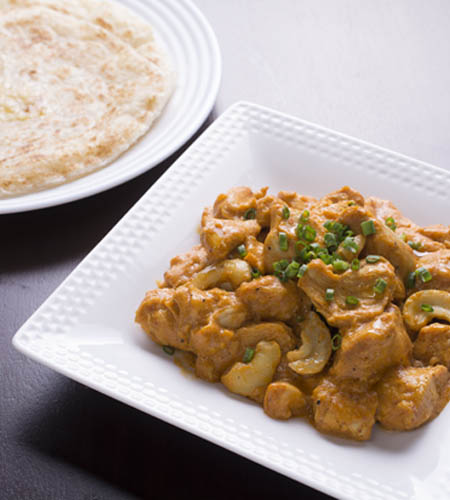 Butter chicken with parata