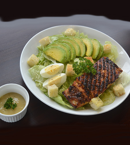 King fish with Caesar salad