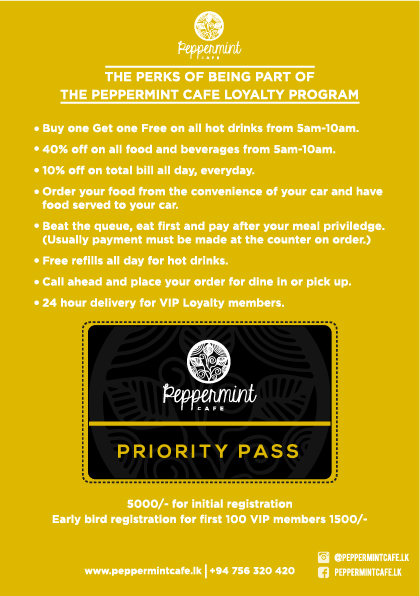 Loyalty card leaflet